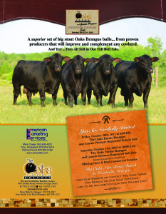 The Oaks Farms Brangus and Genetic Partners Bull & Commercial Female Sale