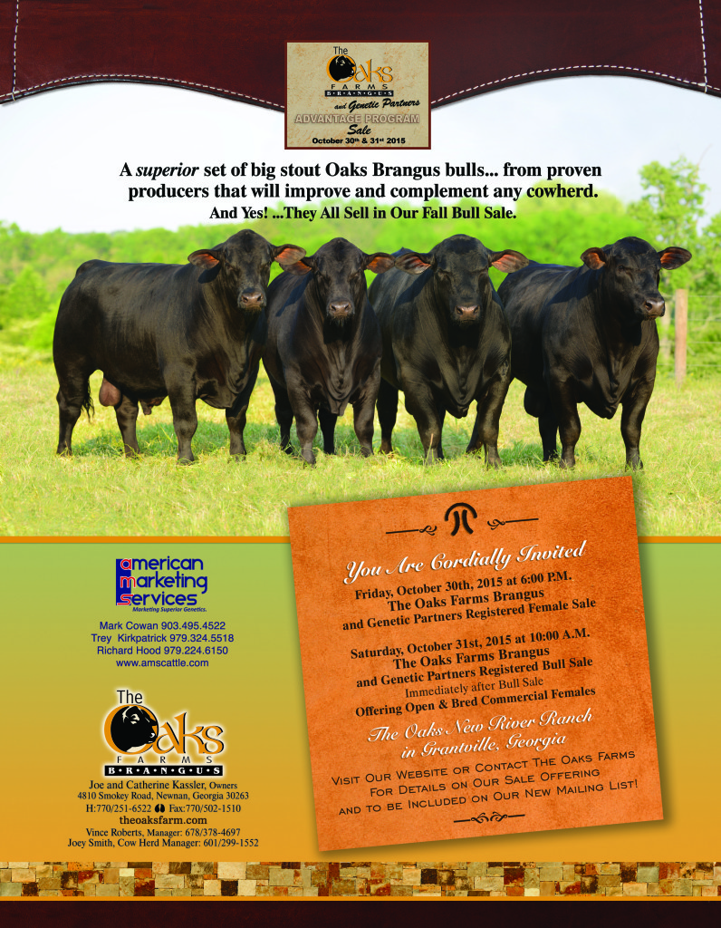 The Oaks Farms Brangus and Genetic Partner Bull & Female Sale